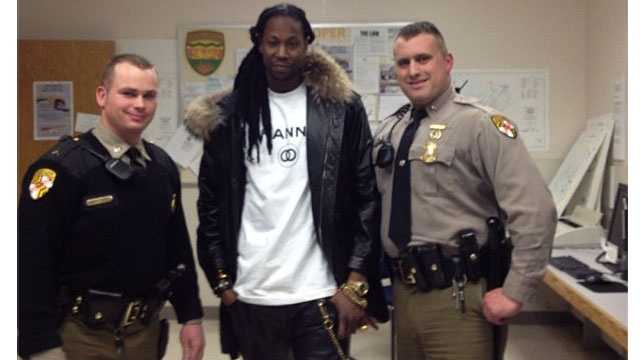 The rapper posted a picture via Instagram and Tweeted (via @2chainz): Locked me up and then Wanted pictures smh.