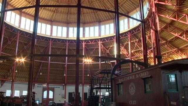 The B&O Railroad Museum's new roof is much more structurally sound, officials say.