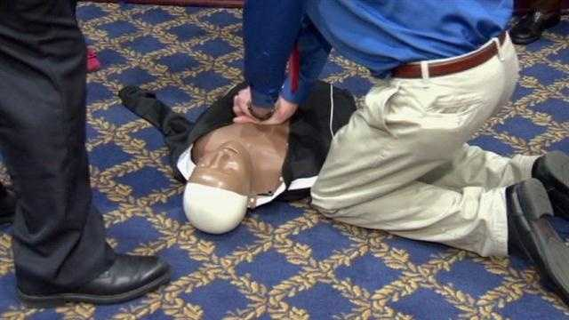 In Annapolis, lawmakers in the Senate and the House of Delegates have introduced a law that will make learning hands-only CPR training a high school graduation requirement.