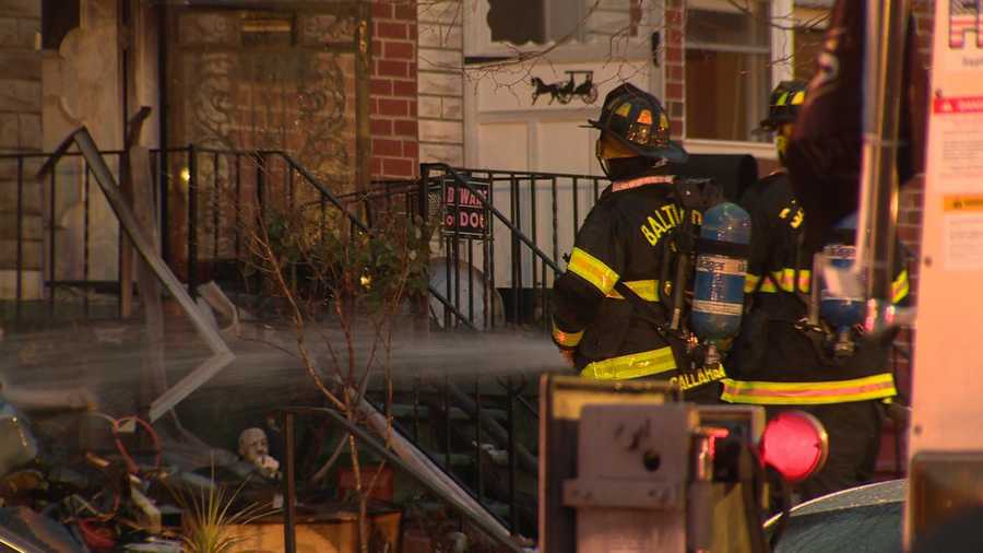 City fire officials say they had to douse a fire twice overnight at a northeast Baltimore home.