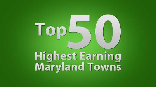 Show me the money! Take a look at Maryland's top-earning towns by average salary reported to the U.S. Census.