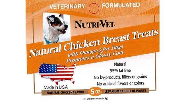Nutri-Vet recalled dog product