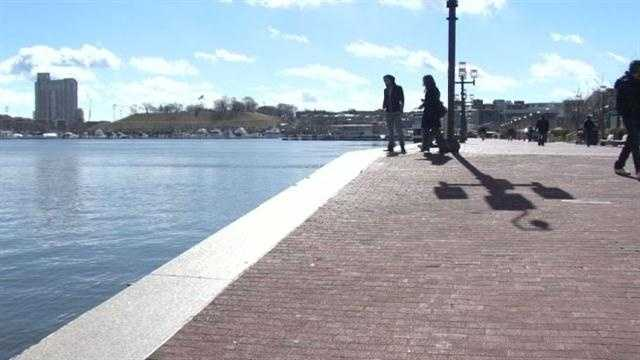 A man jumped into the frigid Inner Harbor waters to rescue a woman. He recalls the ordeal.