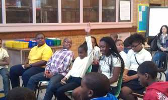 The kids paid close attention and had lots of questions afterward.