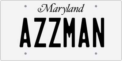 MVA:Depending upon the vehicle, you may request a message with at least 2 and up to 7 characters (numbers and/or letters).