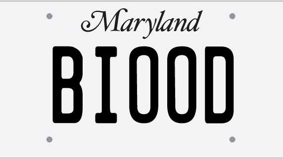 100 Rejected Maryland Vanity License Plates