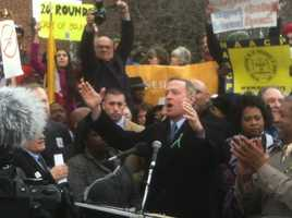 Gun control rally at Lawyer's Mall on March 1.