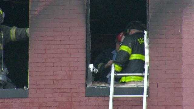 One firefighter suffered a non-life-threatening injury and was treated at the scene.