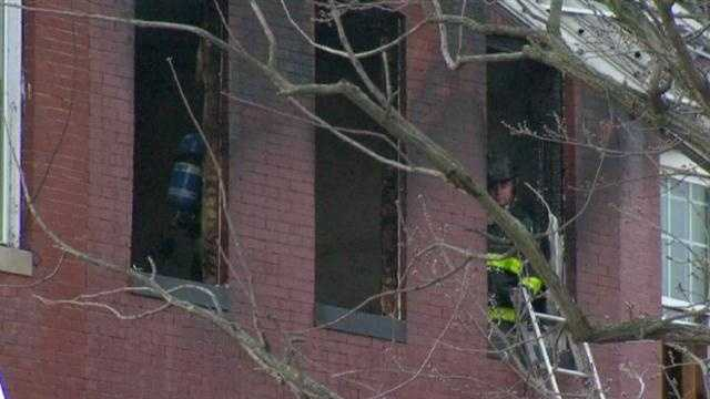 When firefighters arrived, they said they found smoke and flames coming out of the second and third floors of the structure.