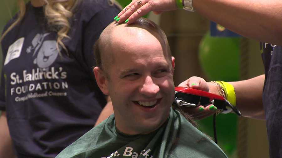 Organizers said the mass shaving was a big deal for many people.