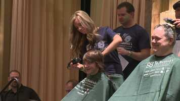 """""""You have many varieties of reactions when they get their head shaved,"""" said organizer Dan Jarkiewicz."""