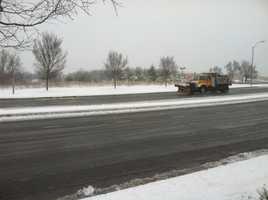 Road crews work hard early in Carroll County.