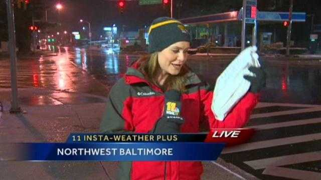A kind viewer drops some bread off for Ava Marie during her liveshot after hearing her say she gets crabby when she's hungry!