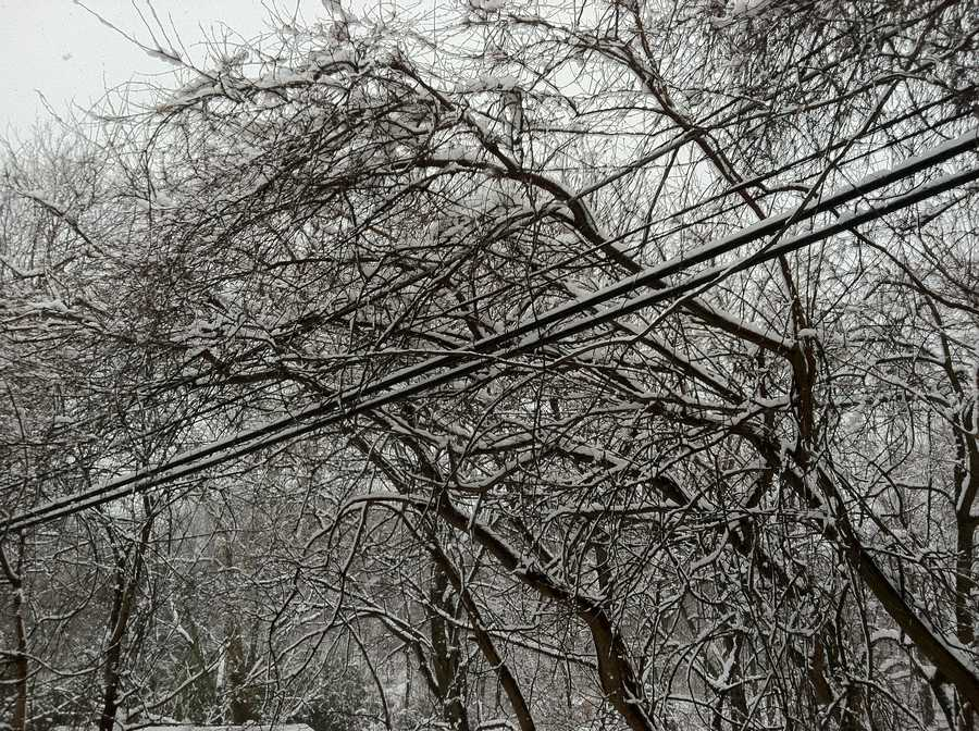 Heavy snow near Middletown, Frederick County