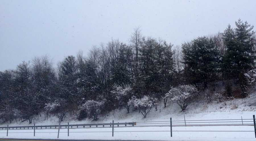 The drive along I-795 in Owings Mills.