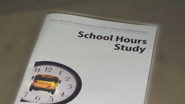 Anne Arundel County completed a study on how early buses should pick up students for school.
