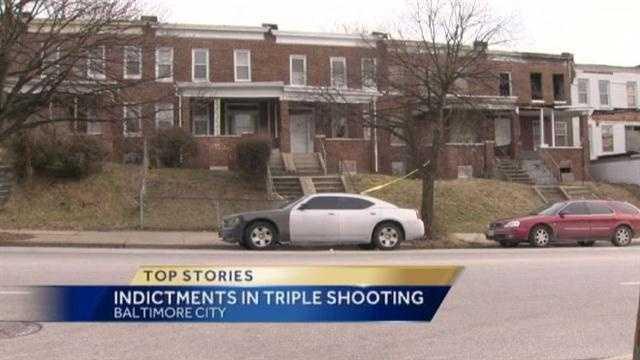 triple shooting scene