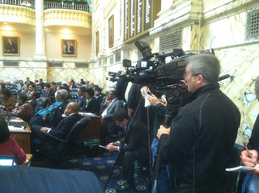 Cameras watch the proceedings closely.