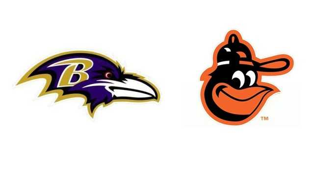 Ravens-Orioles logos together