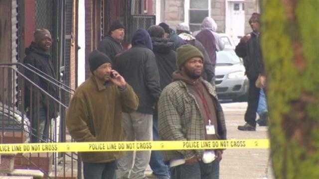 west Baltimore triple shooting scene