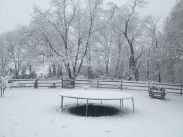 In Frederick County, a trained weather spotter in Libertytown reports 4 inches, and there were 2 inches in Emmitsburg.