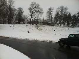 There was about 5 inches of snow reported in much of Baltimore County around the north part of city.