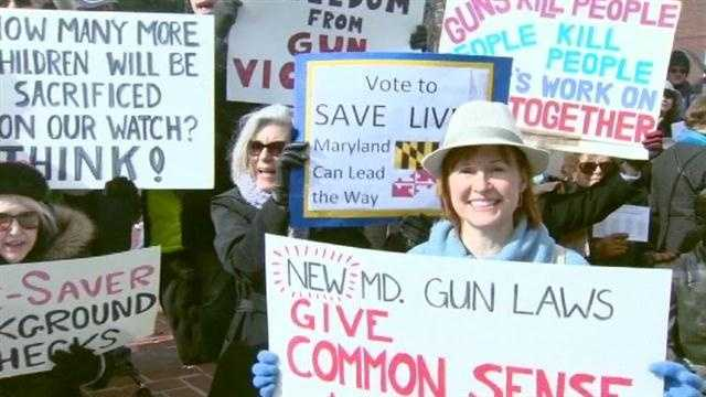 Some Maryland moms are rallying to get lawmakers to pass comprehensive gun control legislation in the state, while others are protesting the governor's plan.