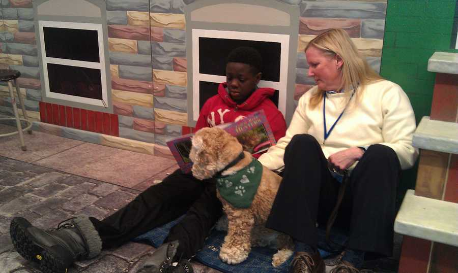 Kaiser-Mohondro says Wyleek was a good reader to beginning with, but he's become much more relaxed about it with Gabby's help.Read the story.