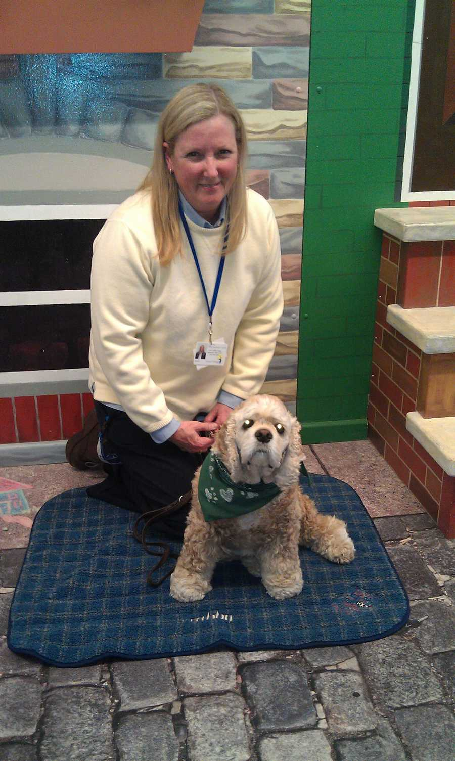 About three times a week, she joins her handler, Children's Guild clinical director Blake Kaiser-Mohondro, at the school, which serves kids who are difficult to educate due to autism, multiple disabilities and trauma.Read the story.