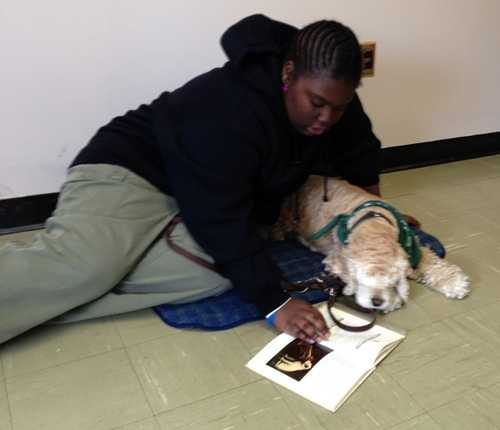 Gabby helps high school student Diamond with her reading. Read the story.