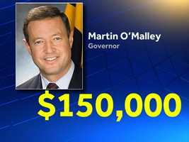 The top earner isn't actually the governor, who earns a $150,000 salary set forth by the state Constitution.
