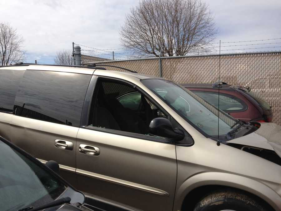 Police say this Chrysler Town and Country was the one involved in the high-speed chase with Bernard Johnson.