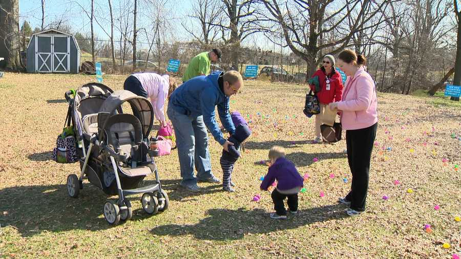 After the egg hunt, families played games, made Easter crafts and visited with the Easter Bunny.
