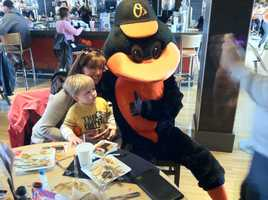 The Oriole Bird with fans at Dempseys.