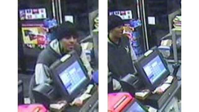 Police are searching for this man in connection with a robbery and attempted robbery in Glen Burnie.