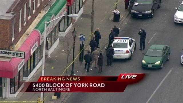 York Road shooting locator