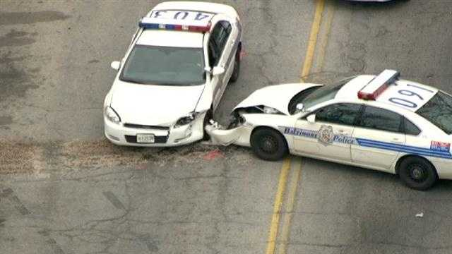 east Baltimore cop crash