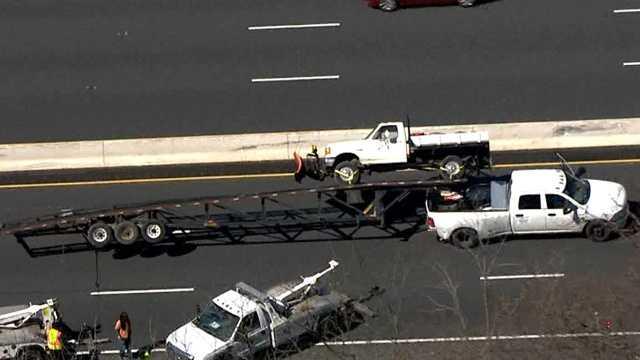overturned car trailer