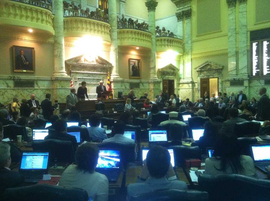 Sine die in the House of Delegates chamber.