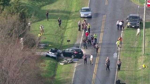 According to friends and family who rushed to the crash site, the four men in the silver car -- identified as 19-year-olds Tyler Elzy and Michael Rigenbach and 18-year-olds Cory Pessagno and Harrison Smith -- were always together and were best friends. Police pronounced them dead at the scene.