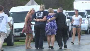 Cox Neck Road was closed for hours during the initial investigation, and a chaplain was called to the scene to console grieving family members.