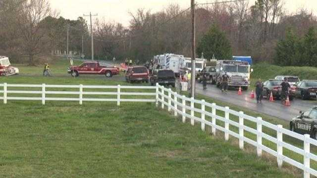 The crash happened in the 1700 block of Cox Neck Road in Chester just after 4 p.m.