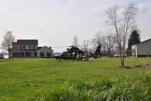 Dabich is flown to Shock Trauma by a Medevac helicopter.