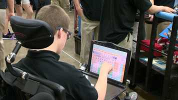 """I handle the programming whenever Austin is busy with the electrical part of the robot, and then I'm part of the drive team, as well,"" he told 11 News reporter Jennifer Franciotti."