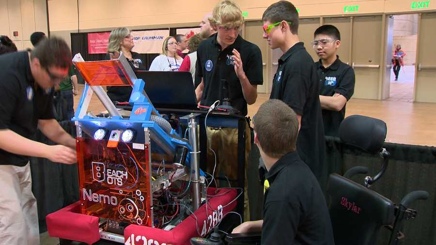 """""""Normally, you wouldn't think someone like Skylar would contribute to building a robot, but he has incredible ideas, and he models it, which is extremely helpful to visualize what we're actually going to build,"""" Beck said."""