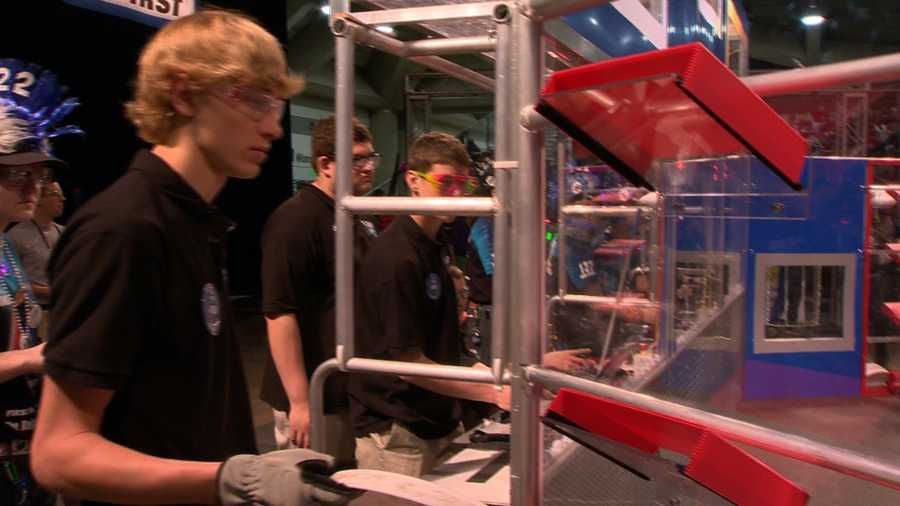 The Beach Bots won their first match of the day Friday.