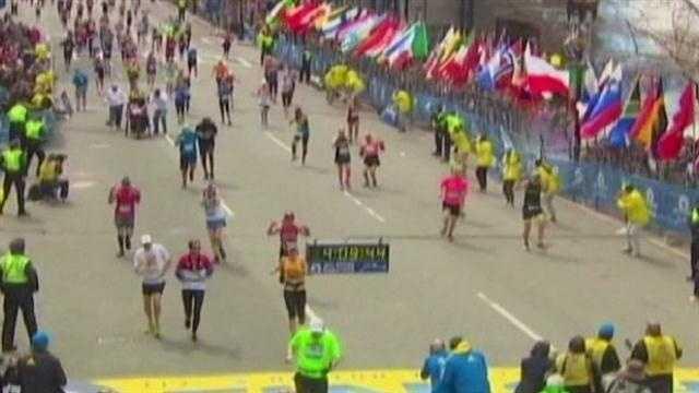 Boston Marathon runners (just before bombing)