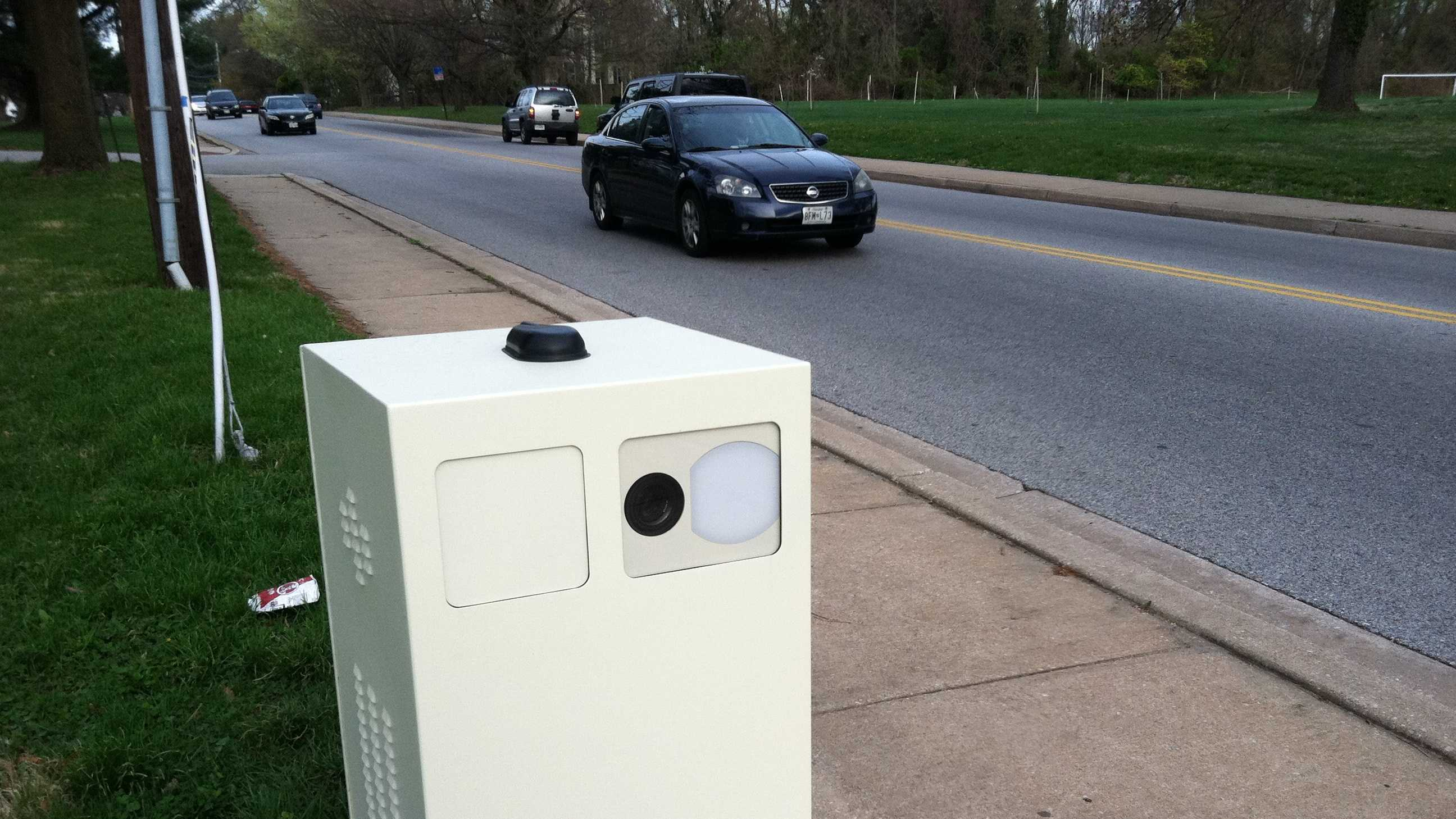 One of the new speed cameras in the city along Windsor Mill Road near Linkin Park was taken offline early Wednesday.