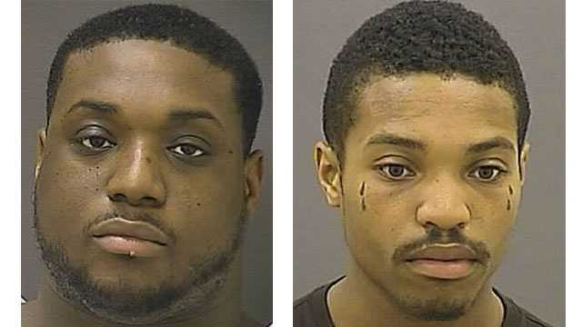 Police say Ignacio Carr (pictured left) and Terrence Jennings (pictured right) were arrested in connection with separate shootings in the city.