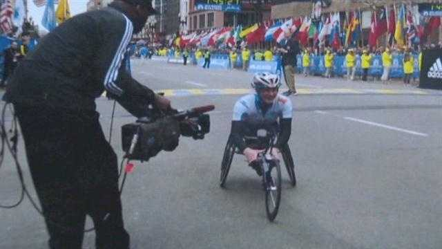 An elite Paralympic athlete from Howard County had just made it to her nearby hotel Monday when the first bomb went off at the Boston Marathon.